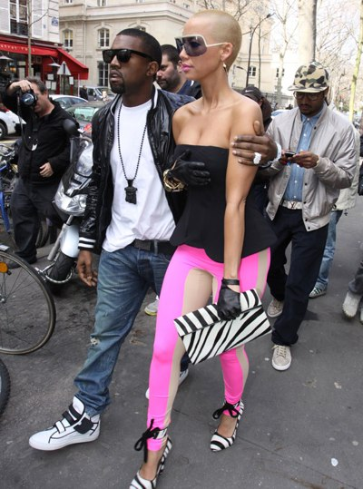 Amber Rose with boytoy Kanye West. Source: inquisitr.com